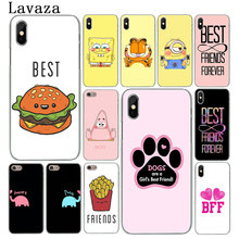 Lavaza Best Friends Girl Hard Phone Case for iPhone XR X XS 11 Pro Max 10 7 8 6 6S 5 5S SE 4 4S Cover