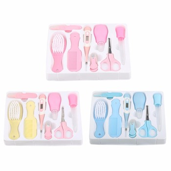 8Pcs/Set Baby Health Care Sets Portable Newborn Tool Kits Kids Grooming Kit Baby Safety Cutter Nail Care Sets For Baby Children
