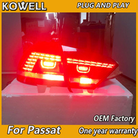 Car Styling for New VW US Passat B7 Taillight 2012 2013 2014 2015 Passat LED rear lamp DRL+Turn Signal+Brake+Reverse