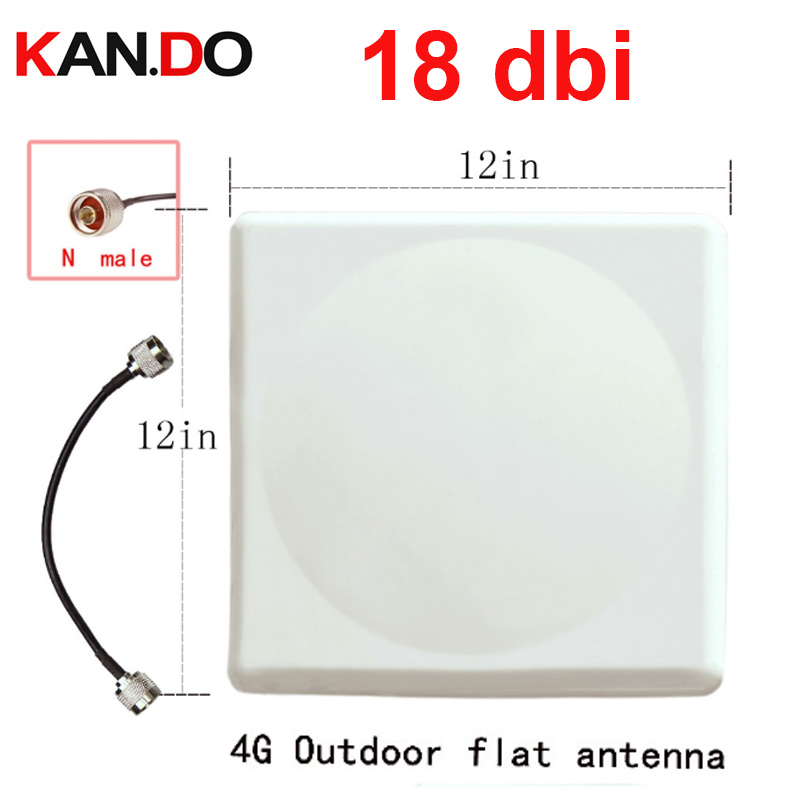 18dbi Gain 4G Antenna 698mhz-2700Mhz LTE Outdoor Panel Antenna 4G Booster LTE Directional Antenna 4G Booster Use GSM 3G Wifi