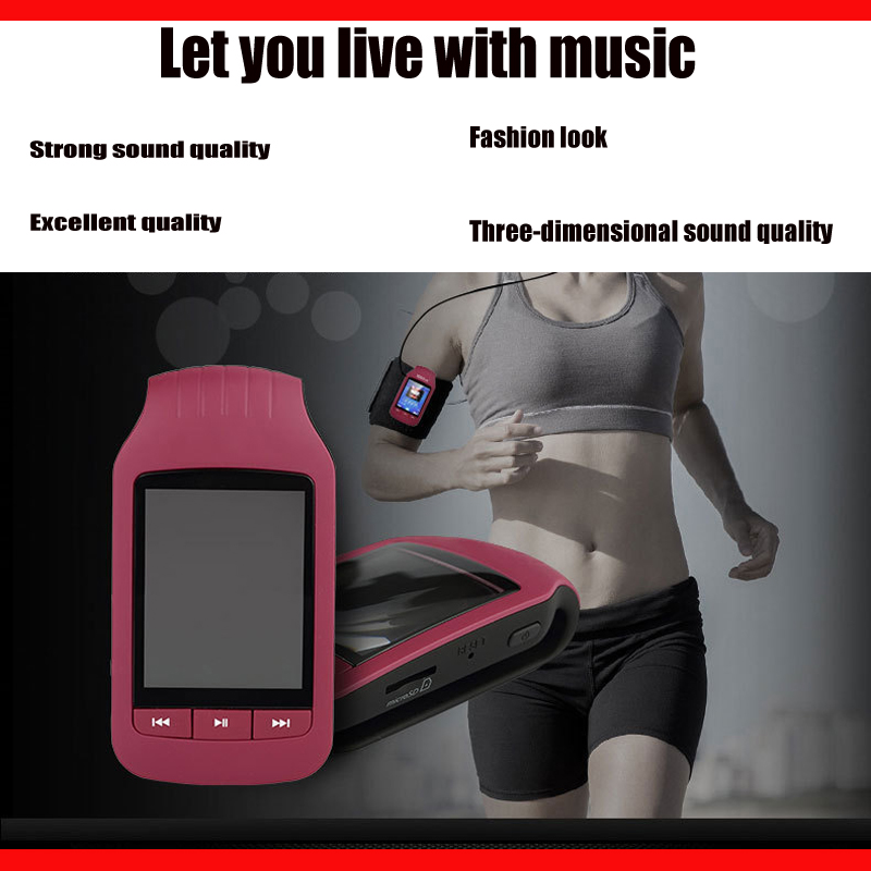 Clip de sport en cours d'exécution lecteur MP3 avec enregistrement d'écran mini lecteur MP3 Bluetooth