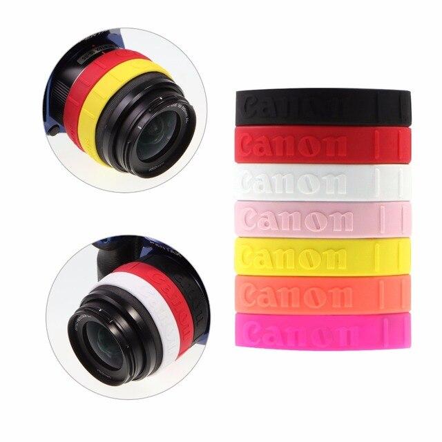 Meking Anillo de enfoque de seguimiento de silicona para Canon DSLR, filtro de lente antideslizante, banda de goma para Control de zoom