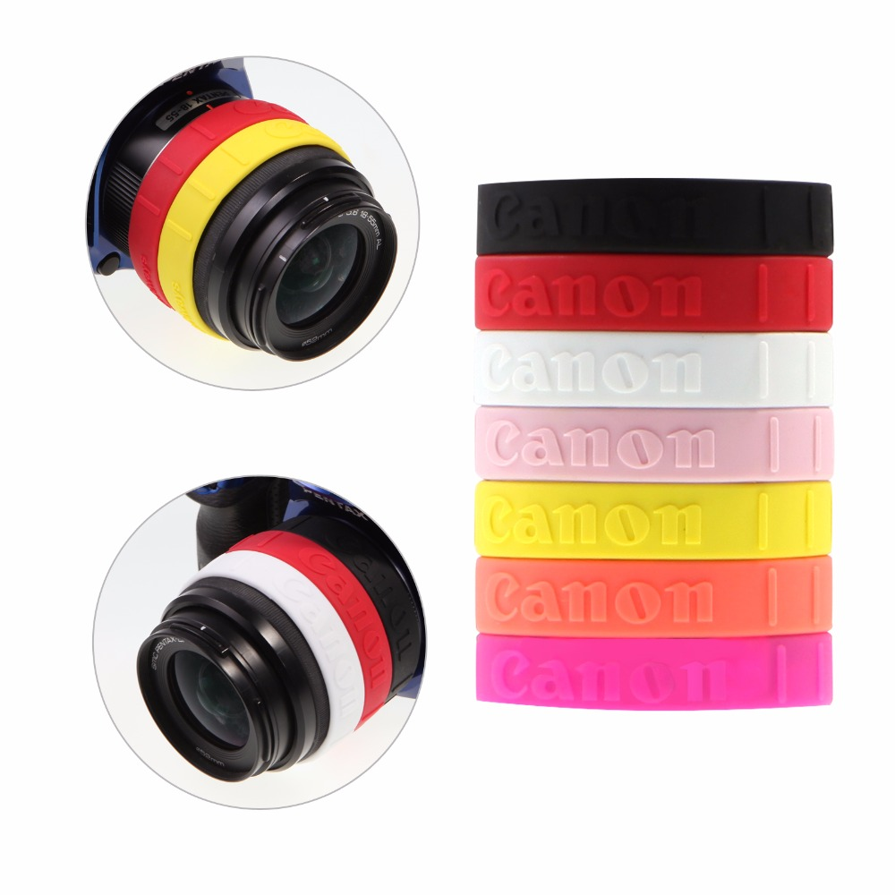 Meking Colorful Silicone Follow Focus Ring For Canon DSLR Lens Filter Anti-slip Zooming Control Rubber Band