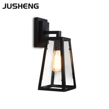 JUSHENG American style modern vintage wall lamps hallway stair cafe living room restaurant wall lights 100-240V AC modern 2015 new american style vintage industrial lamps restaurant bedroom living room cafe lights chandelier personality