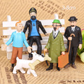 5pcs/set The Adventures of Tintin snow Tintin 5 doll ornaments hand model doll toy gift
