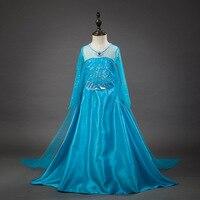 Halloween Costumes For Kids Party Wear Child Princess Elsa Dress