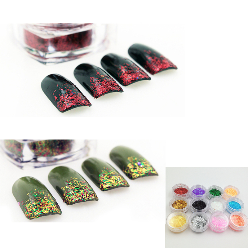 1 piece 12 colors nail art decorations acrylic polish tips for Acrylic nail decoration supplies