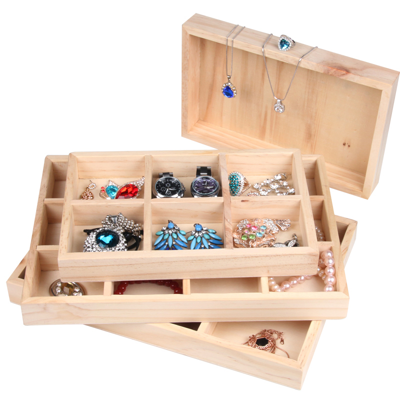 Wood Jewelry Display Tray