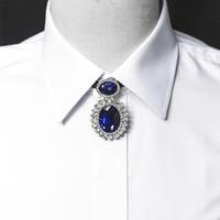 Free Shiping Fashion Men S Male Shirt Blouse Gem Necklace Chain Poirot Collar Wedding Groom Host