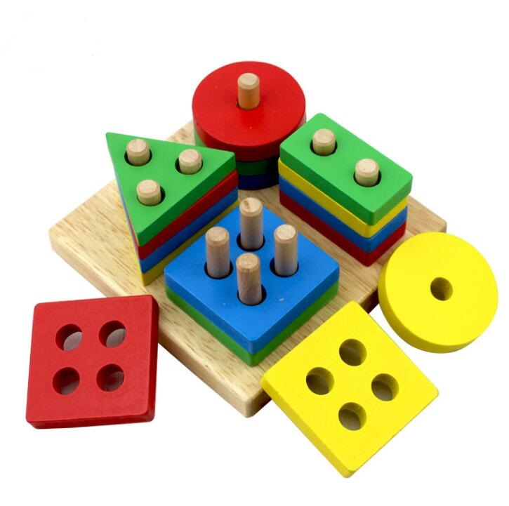 Wooden Blocks Jointed Board Montessori Teaching Leaning Education Building Chopping Block Match Toy For Children Gift