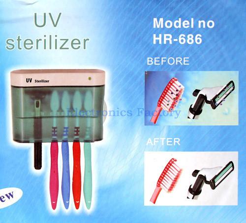 новый уф-светильник зубная щетка бритва дезинфицирующее средство стерилизатор стерилизации гигиена полости рта бактерии держатель очиститель ванная комната коробка чехол