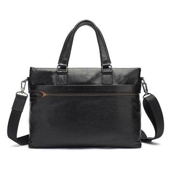 2017 Men Casual Briefcase Business Shoulder Bag Genuine Leather Messenger Bags Computer Laptop Handbag Bag Men's Travel Bags Men's Backpacks