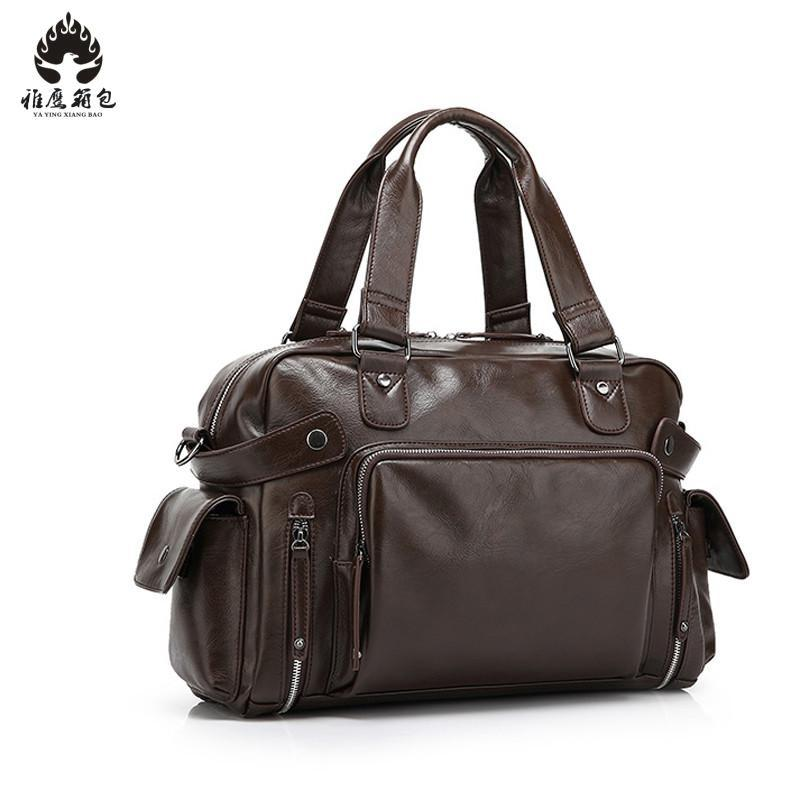 Genuine Leather Men Travel Bags Carry On Luggage Bags Men Duffel Bags Travel Tote Large Weekend Bag Overnight