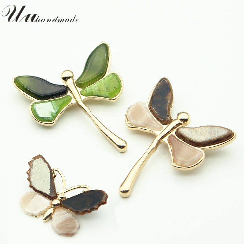 Brooch Brooches For Women Red Butterfly Green Dragonfly Lapel Pin Vintage Pins Boho Trendy Broches Broche Fashion Jewelry 2017