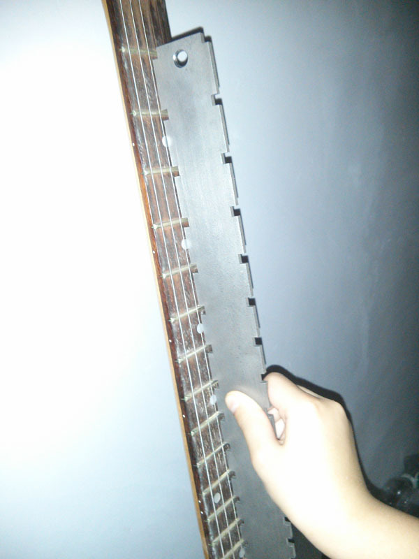 ФОТО fretboard Notched Straightedge  for fretboard evaluating guitar repair tool