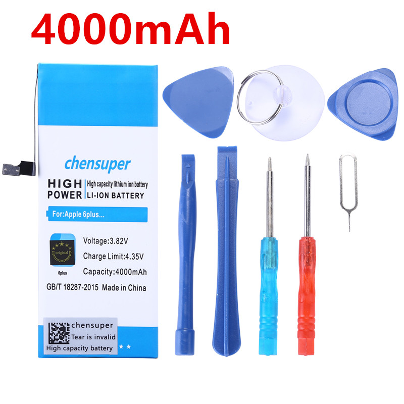 Phone-Battery Machine-Tools-Kit IPhone6-Plus Apple 4000mah For With Real-Capacity New