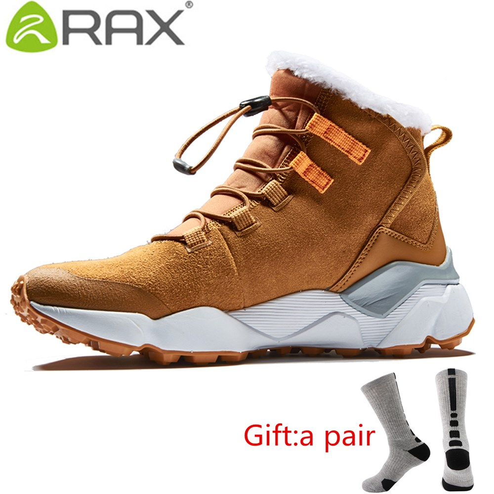 RAX Womens Hiking Boots Winter Snow Boots Women Outdoor Hiking Shoes Trekking Warm Anti-slip Shoes Women Climbing with gift