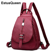 New 2019 Women Leather Backpack Classic Female Ladies Travel For Teenage Girs lMochila School Bags Sac A Dos