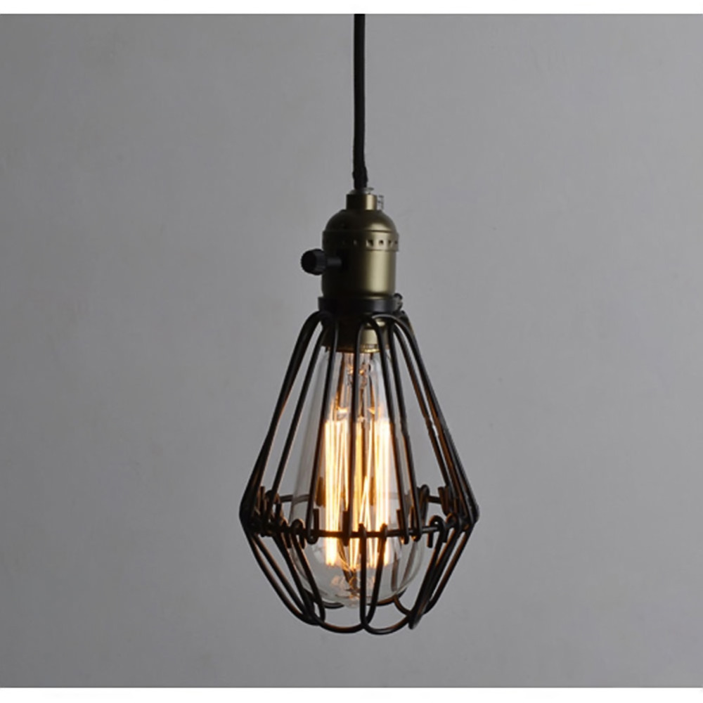 caged lighting. aliexpresscom buy hot sale edison bulb vintage industrial lighting metal lamp pendant light bird cage lights fixtures from reliable caged
