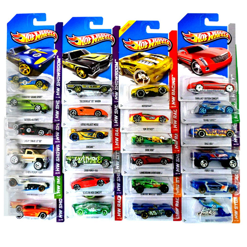 1:64 Hot Wheels Basic Car 100% Original Car style Toy Mini Alloy Cars Toys For Children Collectible Model Cars C4982 Random Sent