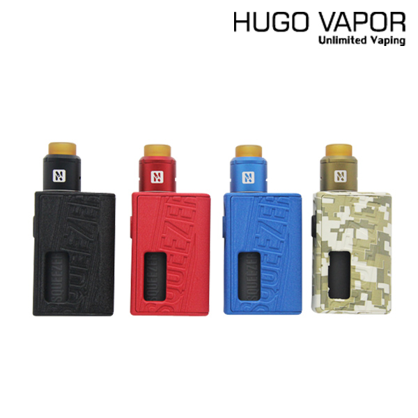 electronic cigarettes original hugo vapor squeezer kit bf squonk vape vaporizer with n bf rda mechanical box mod 18650 20700 Original Hugo Vapor Squeezer BF Mod Kit Vape HugoVapor Mechanical Squonk Mod NF RDA Atomizer fit 18650/20700 Battery E Cigarette
