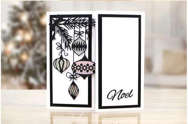 Art Deco Kerstballen Scrapbook Diy Album Kaart Papier Card Maker