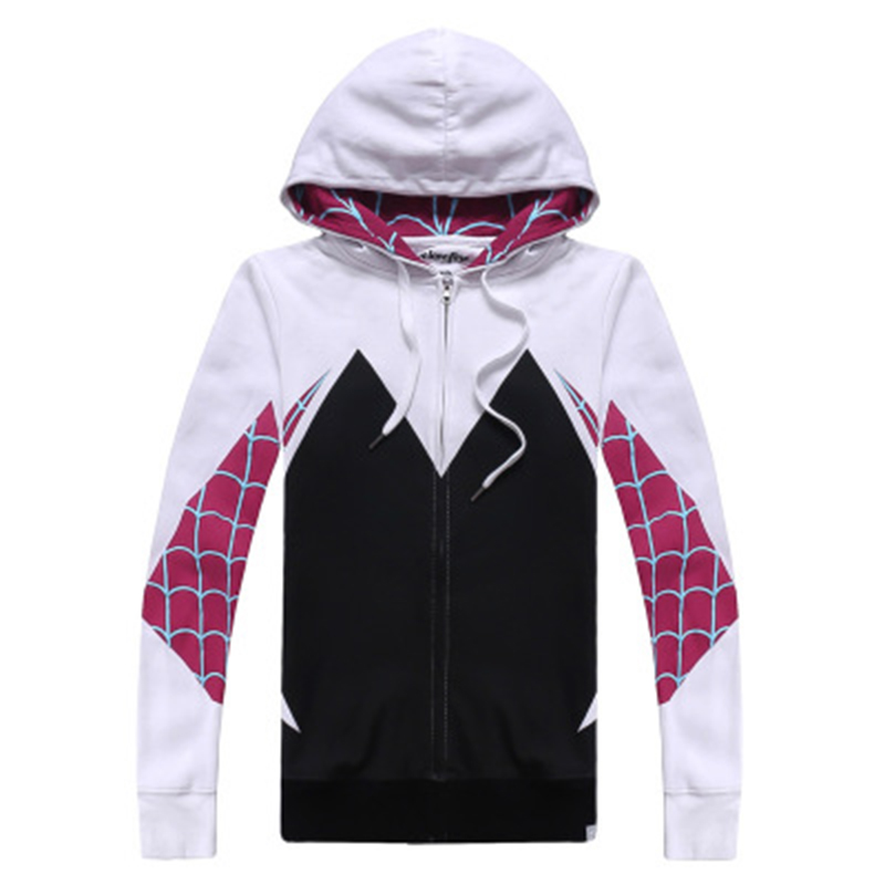 Gwendolyn Maxine Stacy Cosplay Costume Gwen Stacy Spider-Gwen Cos Costumes Coat Sweater Hoodies CosDaddy