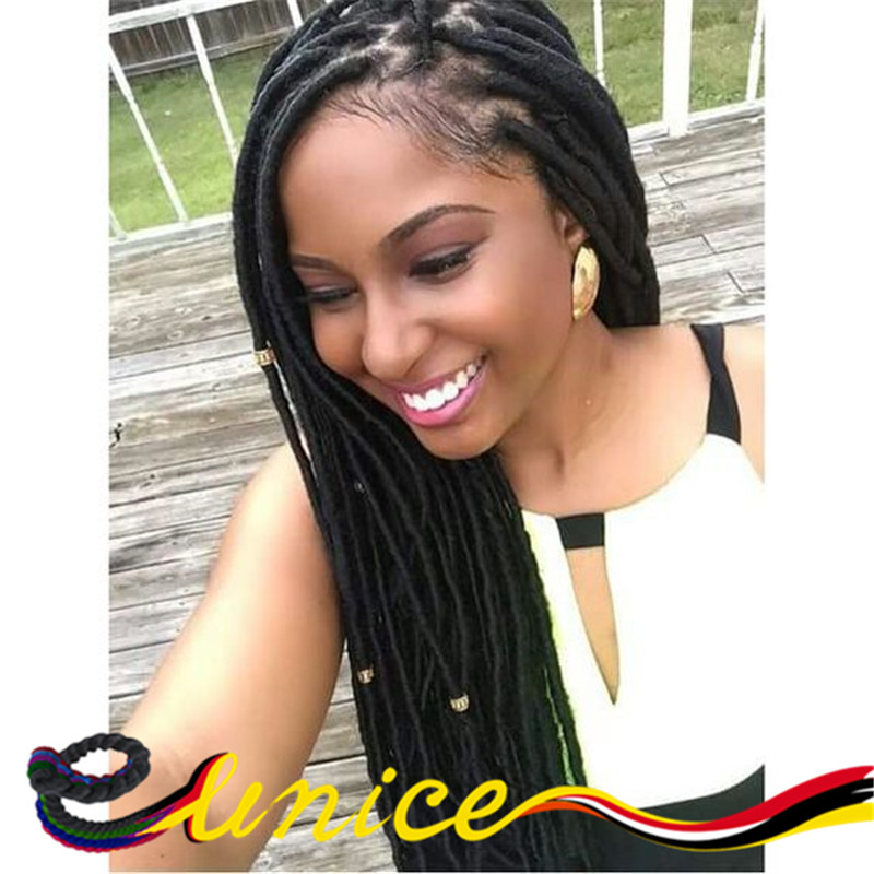 Enjoyable Aliexpress Com Buy Faux Locs Colored Crochet Braids With Short Hairstyles For Black Women Fulllsitofus