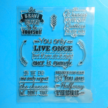 YLCS185 Life Words Silicone Clear Stamps For Scrapbook DIY Album Paper Cards Decoration Embossing Folder Rubber Stamp 15*18cm