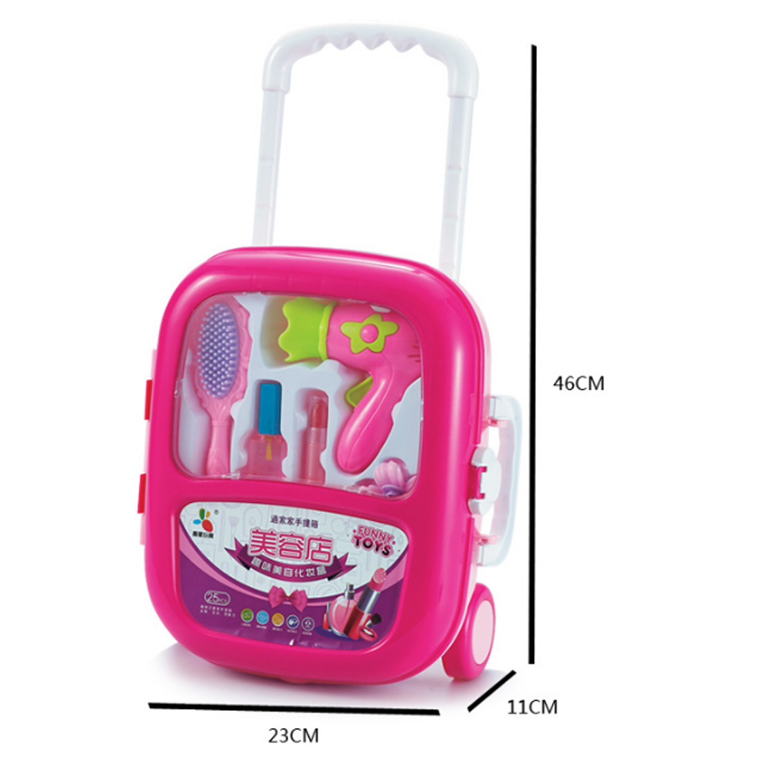 Cosmetics Kit Pretend Play Toys Makeup Set Kids Baby Girls Preschool Kid Beauty Fashion Toys Game Portable Trolley Case for Girl in Beauty Fashion Toys from Toys Hobbies