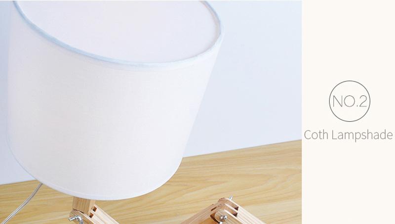 Nordice Modern Creative Gifts Foldable Robot Desk Table Lamps Wooden Base Table Lamp Bedside Reading Desk Lamp Home Decor Light Fixture (19)