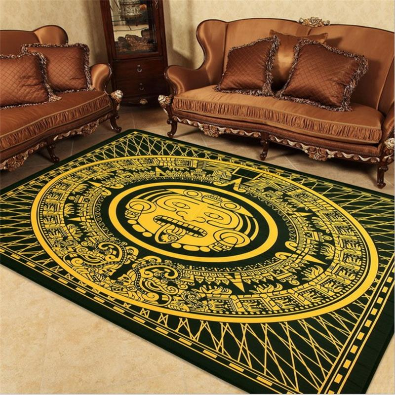 145x145cm Square Tribe Carpets For Living Room Home Bedroom Personality Rugs And Coffee Table Area