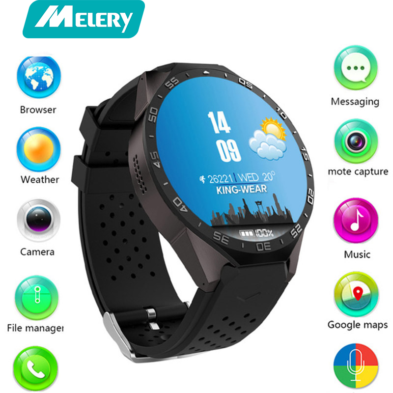 Smart watch KW88 Fitness tracker heart rate monitoring sports with step counter message reminder GPS watch support 3G wifi smart baby watch q60s детские часы с gps голубые