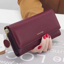 Fashion new women wallets long style Multi-functional purse wallet cool PU leather clutch card holder A161