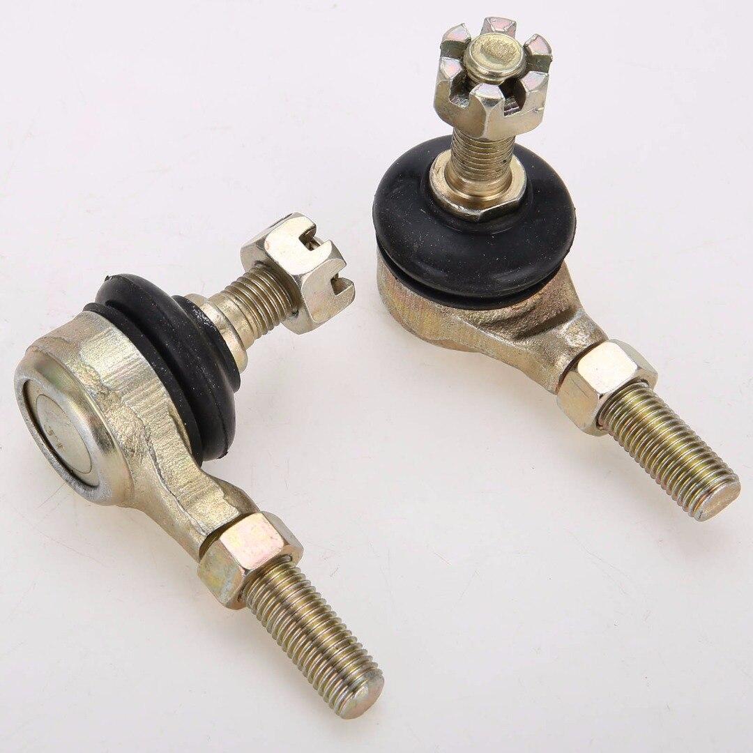 Mayitr 1 par metal m10 tie rod bola conjunta para 50cc 70cc 90cc 110cc 125cc 150cc 200cc 250cc atv quad 4-wheeler