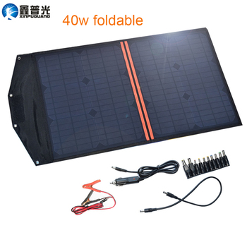 Xinpuguang Solar Panel Cell Charger 40W 18V 20W*2 Foldable Portable Charger 5V USB Output for Smartphone Pad Tablets Waterproof ggx energy waterproof 8w 5v portable folding mono solar panel charger usb output controller pack for phones iphone psp mp4