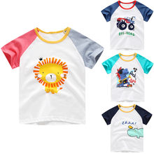 Toddler Baby Kids Boys&Girls Cartoon Animal Print T-shirt Tops Clothes modis happy birthday tee shirt fornite enfant kids top(China)
