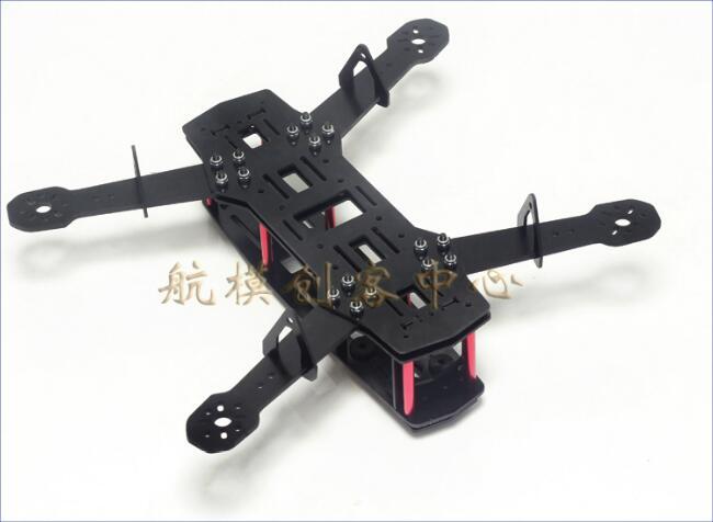 Novo preto qav250 fibra de vidro carbono mini 250 fpv quadcopter quad copter quadro sem montagem