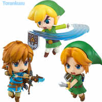 Zelda Link Nendoroid Breath of the Wild Majora's Mask 100MM Collectible Game Legend Doll Brinquedos Juguetes Action Toys Figures
