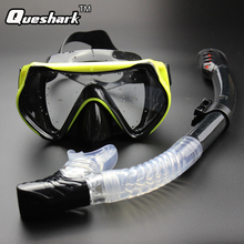 2017 New Professional Scuba Diving Mask Snorkel Anti-Fog Goggles Glasses Set Silicone Swimming Eyewear Fishing Pool Equipment
