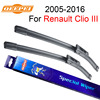 QEEPEI Windscreen Wiper For Renault Clio III 2005 2013 24 16 Wipers Blade Accessories Auto Rubber