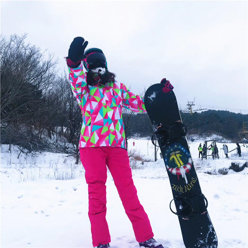 Women 39 s Ski Suit Winter Jackets Overalls Snowboard Suit Snowboarding Sets Skiing Jacket Windproof Waterproof Keep Warm Ski Set in Snowboarding Sets from Sports amp Entertainment