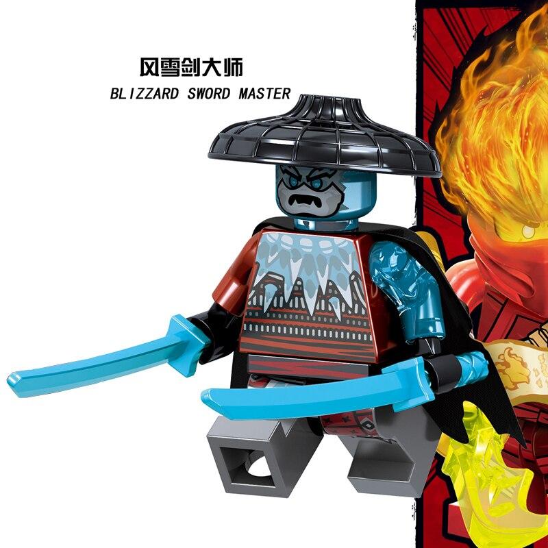 1 шт. ниндзя Кай Джей Коул Зейн Ллойд Нья Мини фигурки Строительные блоки Детская игрушка подарок Совместимость с legoingly ninjagoo для детей - Цвет: RZGA126