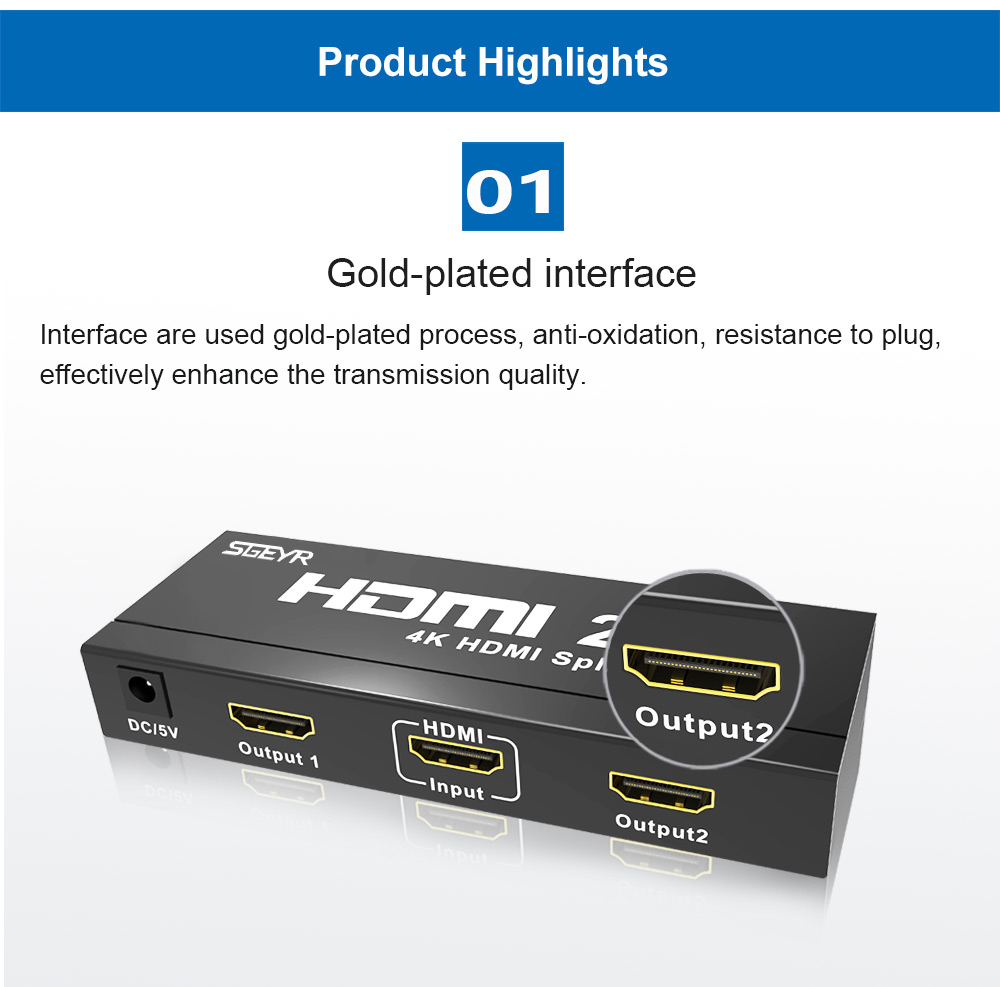 2 port HDMI2.0 splitter (2)