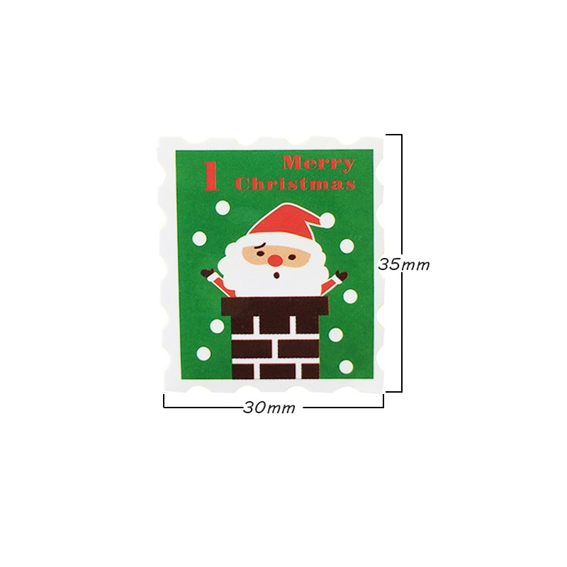 Купить с кэшбэком 100 Pcs/lot 'Merry Christmas' Stamp Shape Seal Stickers Gift Decoration Stickers Cookie Packaging Bag Paper Seal Label Sticker