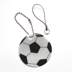 Football model reflective pendant reflective keychain for visible safety dangled on bag mobile phone clothing free.jpg 250x250
