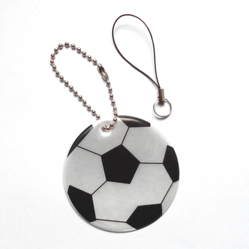 Football model reflective pendant reflective keychain for visible safety dangled on bag mobile phone clothing free.jpg 350x350