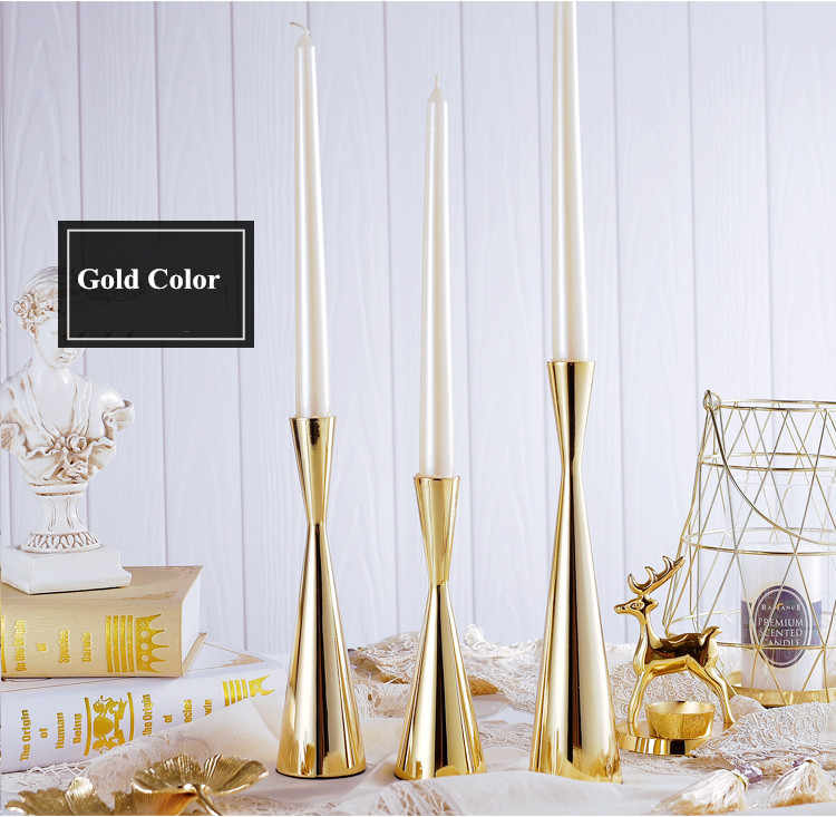Shining Party, Gold Color Metal Candle Holders, Candlestick, Wedding Centerpiece, Wedding Party Christmas Home Bar Decoration