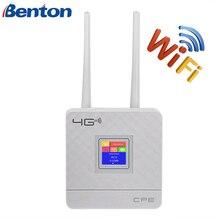 ปลดล็อก 4G เสาอากาศภายนอก WiFi Hotspot ไร้สาย 3G 4G Wifi router WAN LAN RJ45 Broadband CPE router กับซิมการ์ดสล็อต