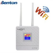 Sbloccato 4G Router antenna esterna WiFi Hotspot Wireless 3G 4G Wifi router WAN LAN RJ45 A Banda Larga CPE router Con Slot Per Sim Card
